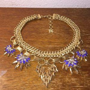 BCBGMAXAZRIA gold tone statement necklace